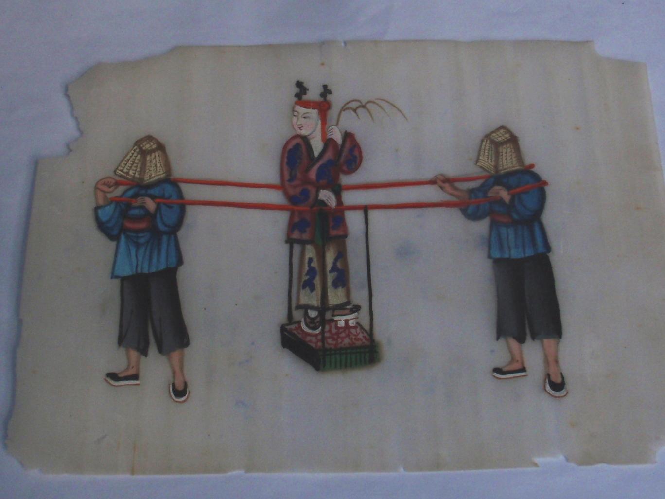 Zeven Chinese aquarellen 1850