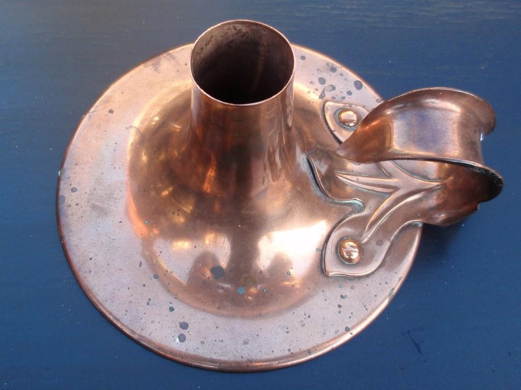 Arts & Crafts copper candlestick