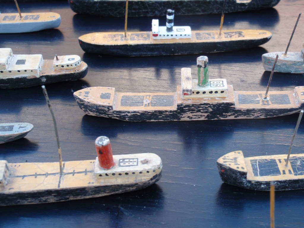 Collection miniature ships