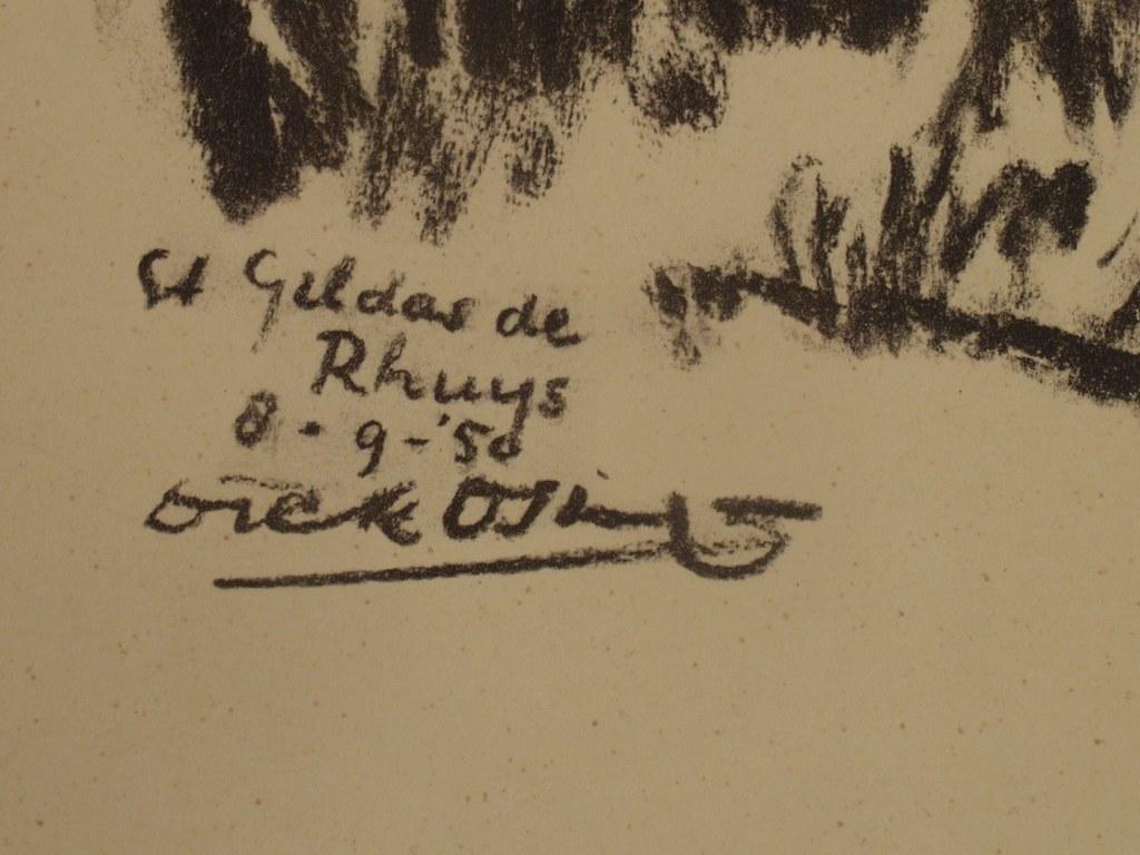 Dick Osinga  charcoal drawing St Gildas de Rhuys 1950