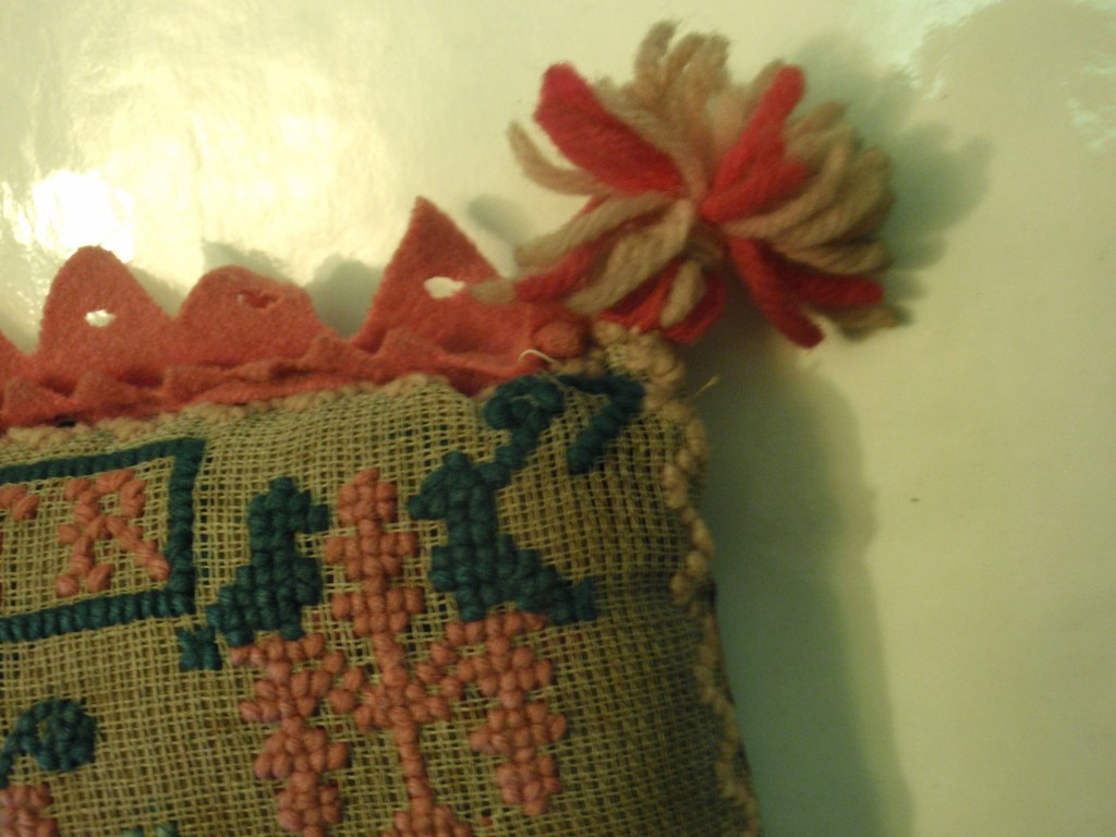 Dutch folk art pin cushion 1897