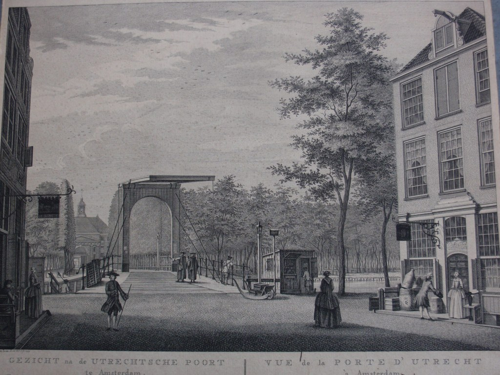 Gezicht na de Utrechtsche Poort te Amsterdam Fouquet 1764