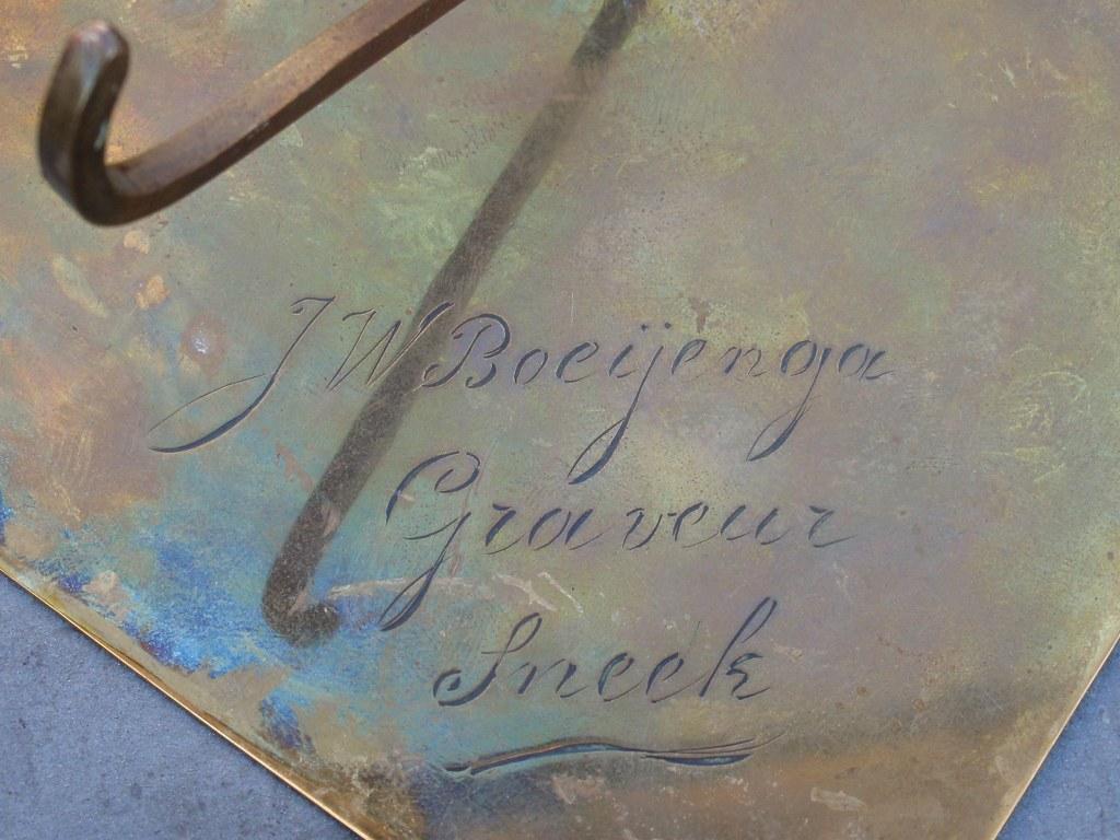Three Frisian hand engraved copper plates by Boeijenga Sneek