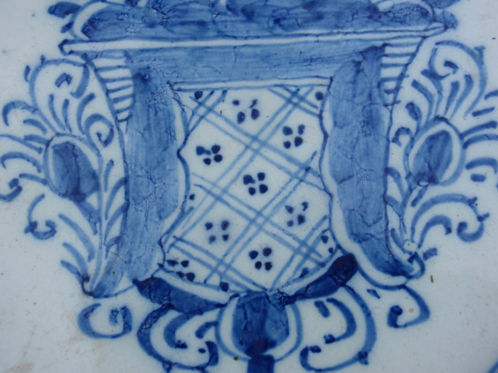 Dutch Delft pancake plate 1800