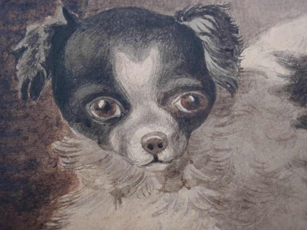 Gouache spelende hondjes toegeschreven aan Otto Eerelman
