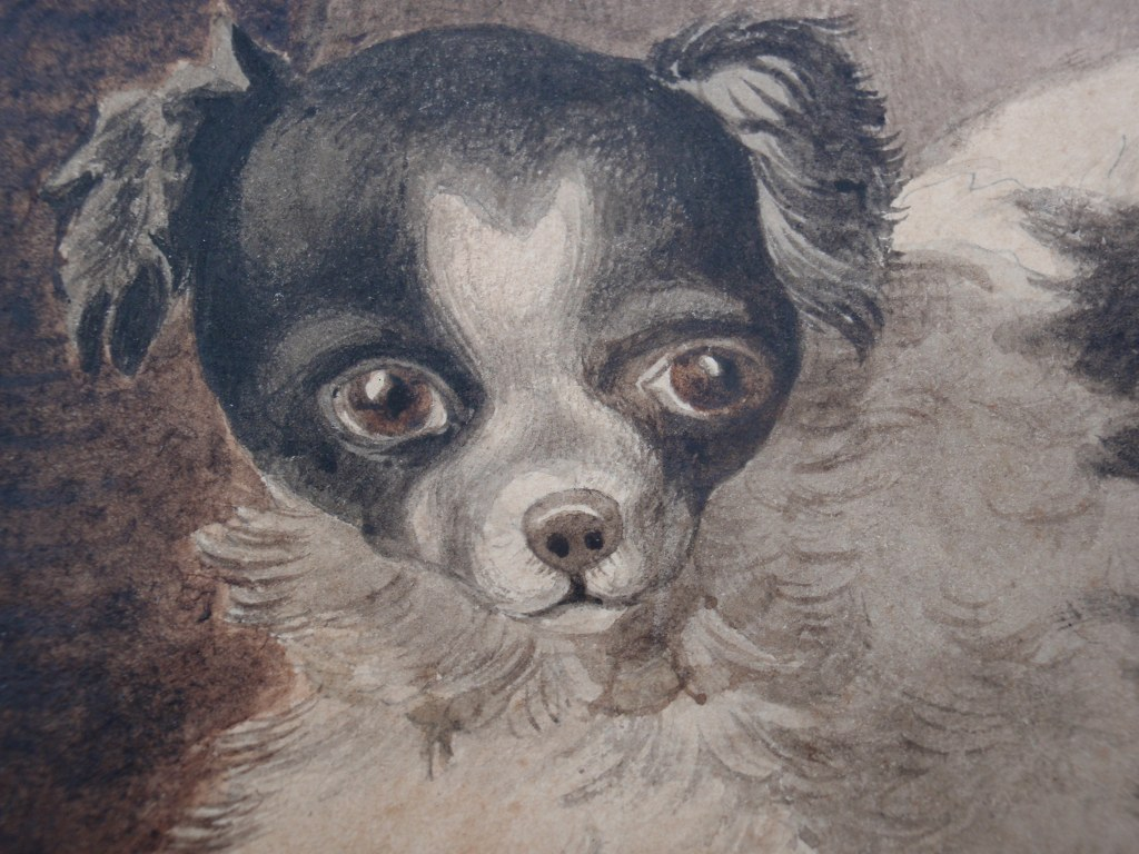Gouache spelende hondjes Otto Eerelman