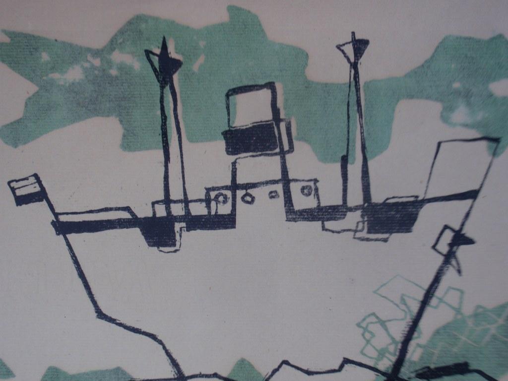 Linodruk van Guus de Ruiter 1948