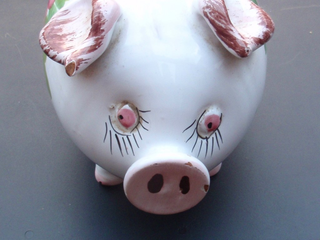 Retro Piggy Bank from the Seventies
