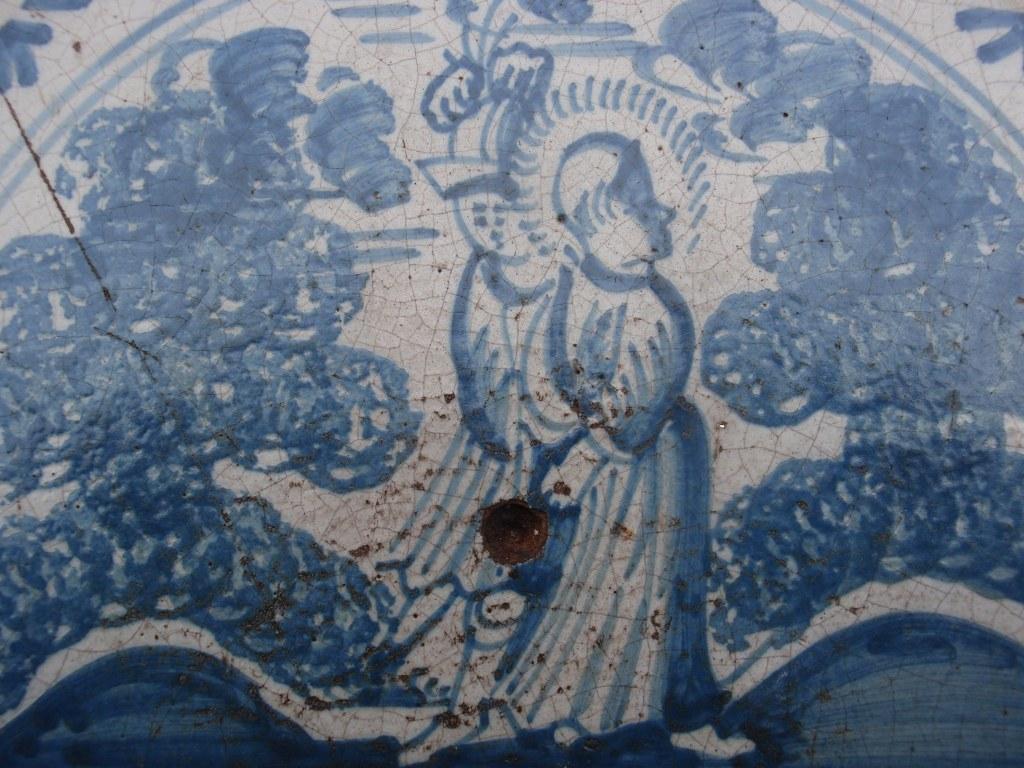 Friesische Fliese Pilatus wäscht seine Hände in Unschuld