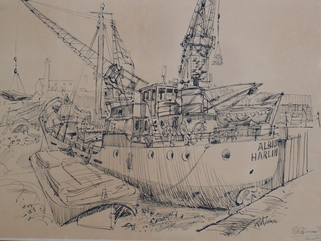 Pentekening Albion door Rob Kooman 1964
