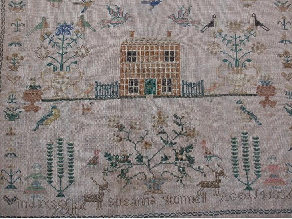 Sampler by Susanna Quinnell 1836 Sussex