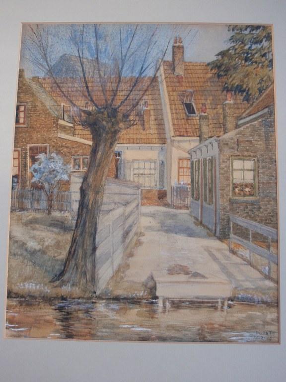 Stadsgezicht hofje van Pieter Cornelis Pot 1925