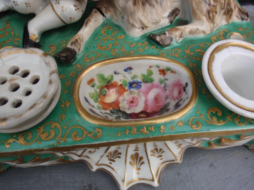 Encrier Porcelaine de Paris 1890