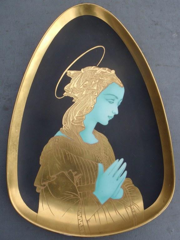 Madonna by Arrigo Finzi Oro Zecchino porcelain 1961