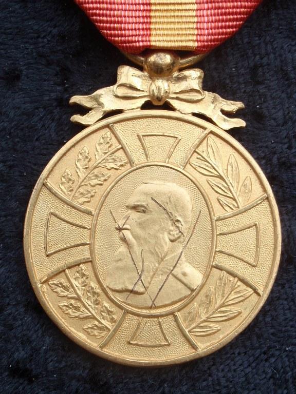 Foto en medailles van een Belgische WO1-oorlogsveteraan