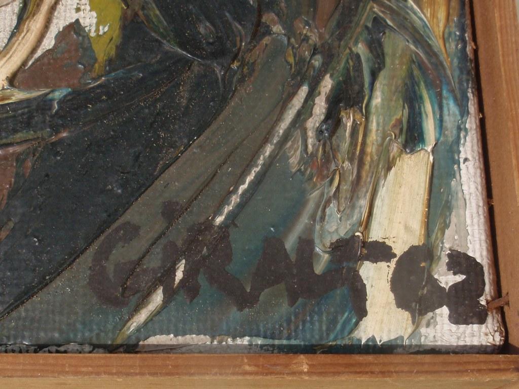 Portrait COBRA painting by Juan Giralt