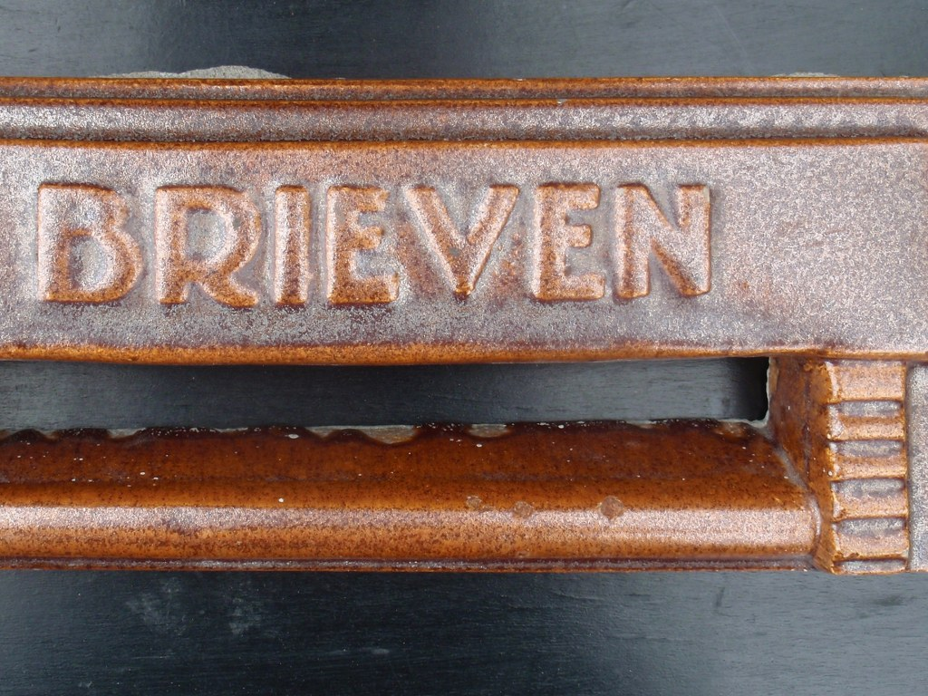 Ceramic tile of letterbox from the twenties