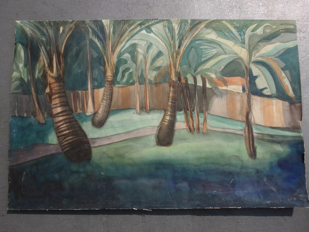 Javanese landscape by Robert Deppe 1936