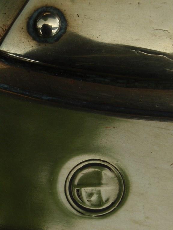 Large yellow copper kettle of Jan Eisenloeffel