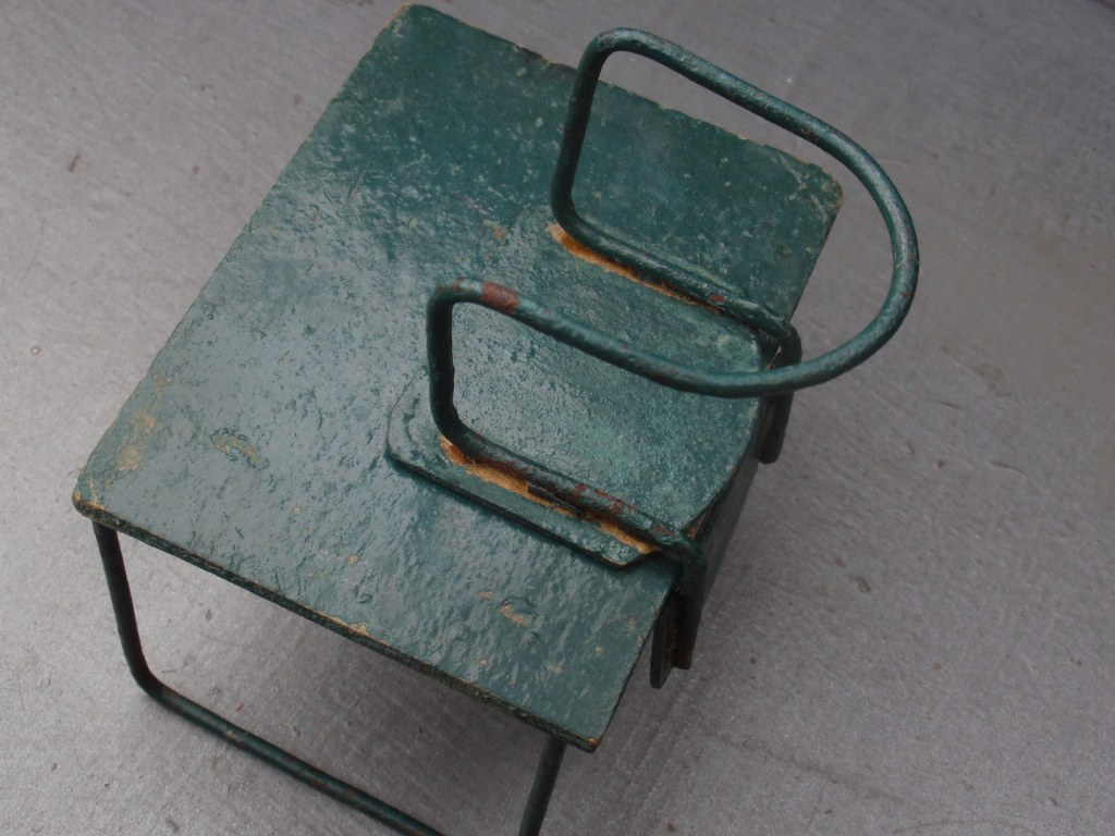 Modernist table and chair for dolls house