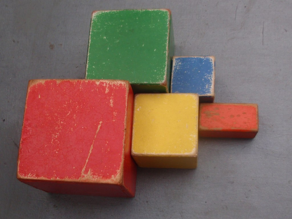 Nooitgedagt wooden nesting blocks in the manner of ADO 1950