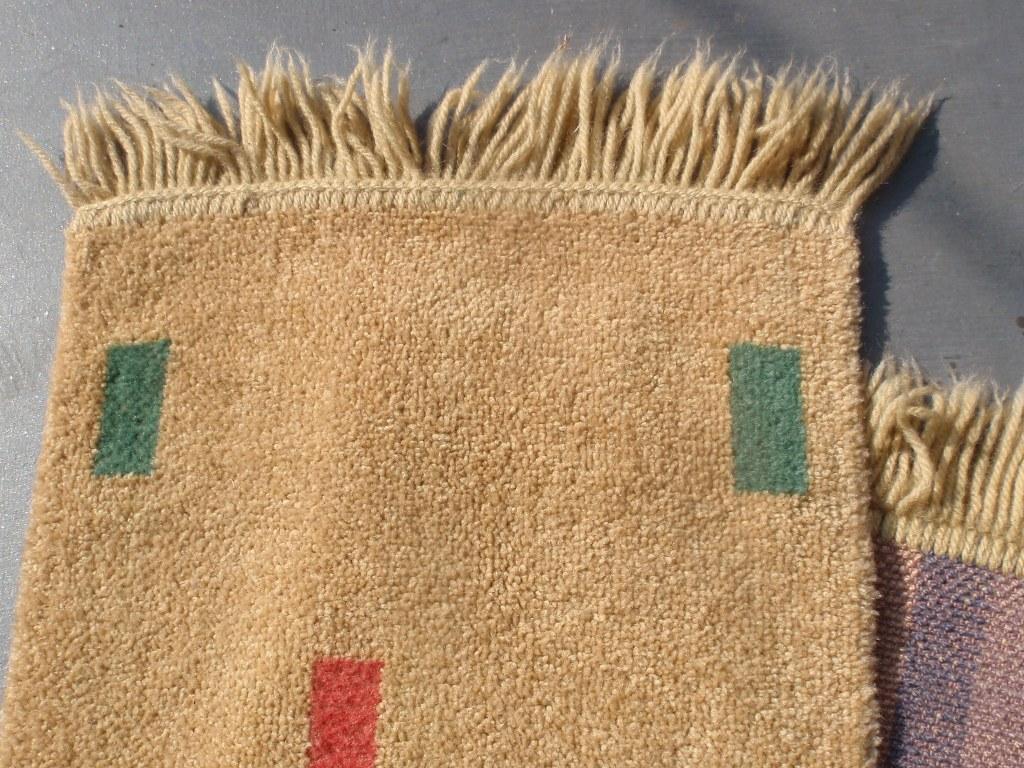 Small Dutch carpet with block motive