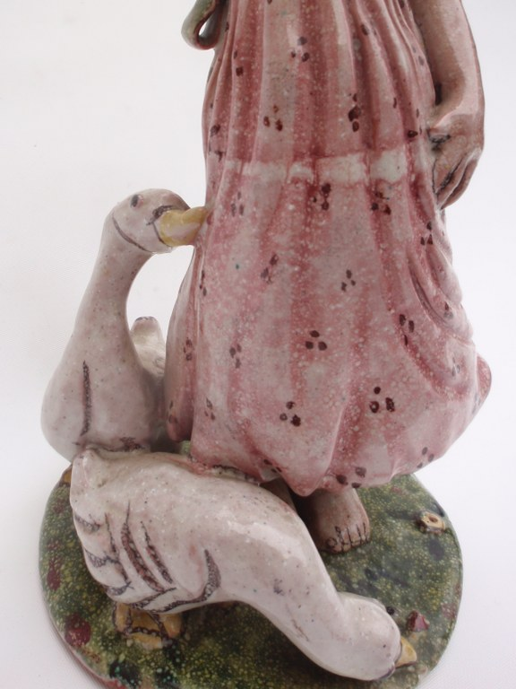 "Goose girl by ""Elli Bron"" in the manner of the Wiener Werkstätte"