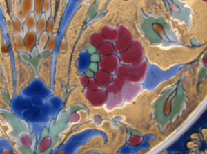 Early Zsolnay dish with Persian motifs-3