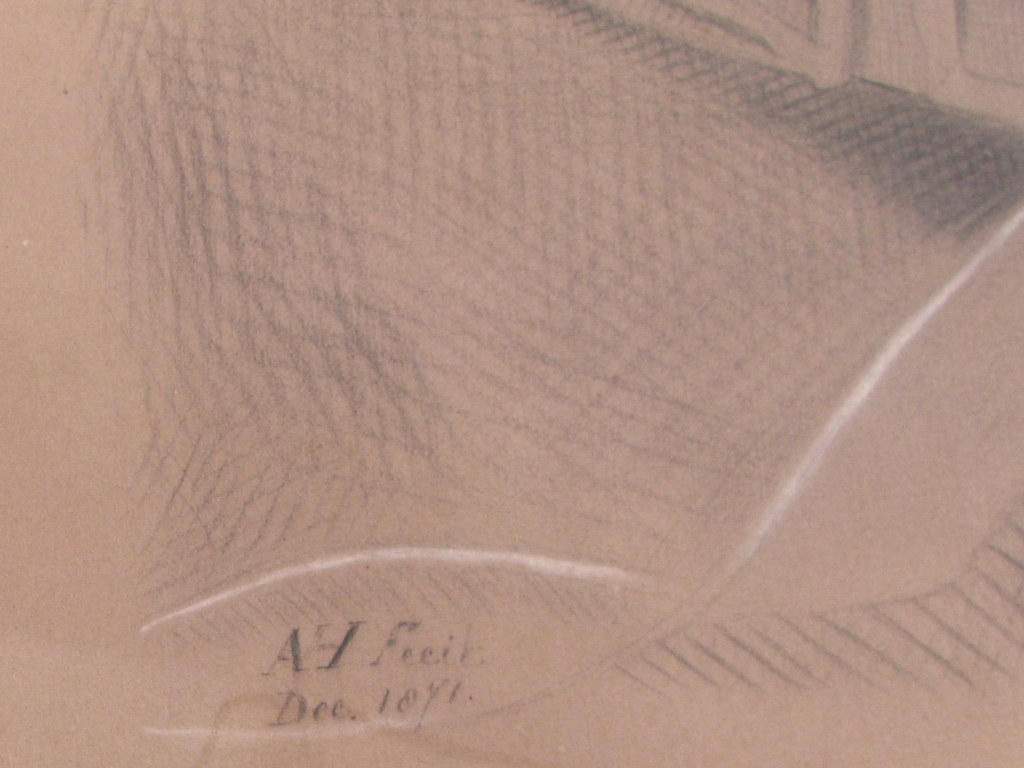 Drawing of horse head attributed to Arina Hugenholtz-3