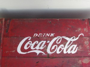 Dutch wooden Coa-Cola cool box from the fifties-3