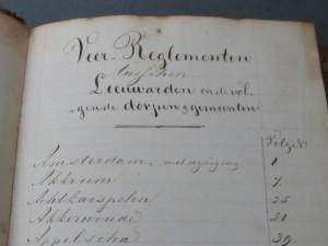 Verzameling verordeningen en veerreglementen van Leeuwarden-7