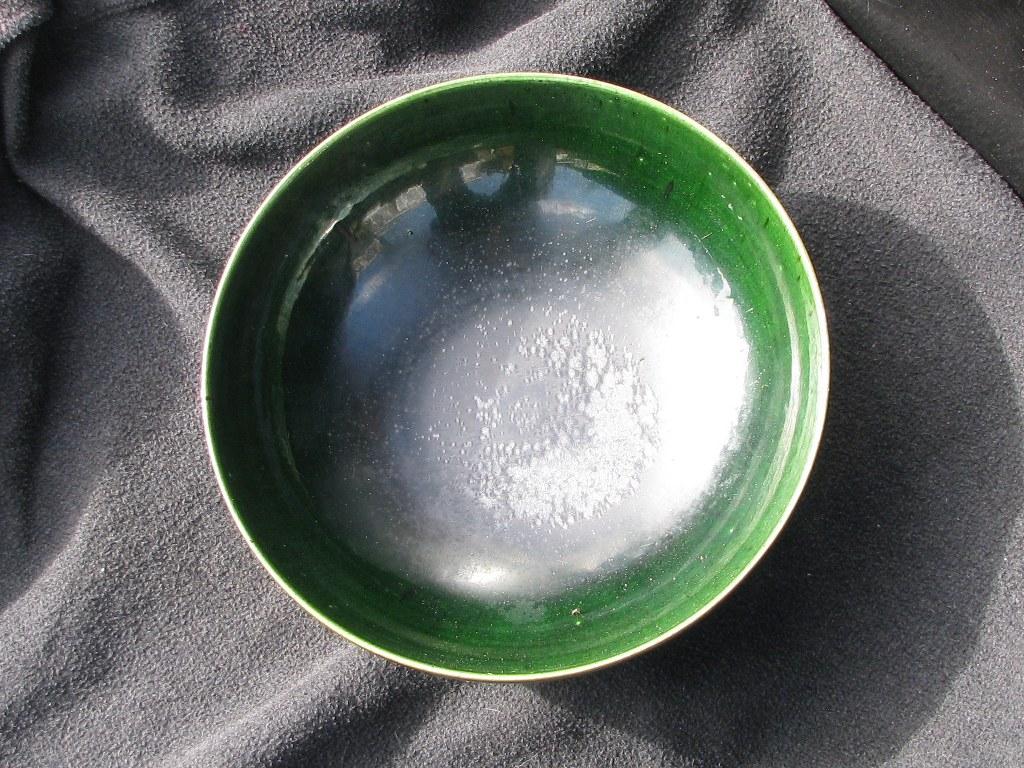 Diepe groene schaal door Gerrit den Blanken-1