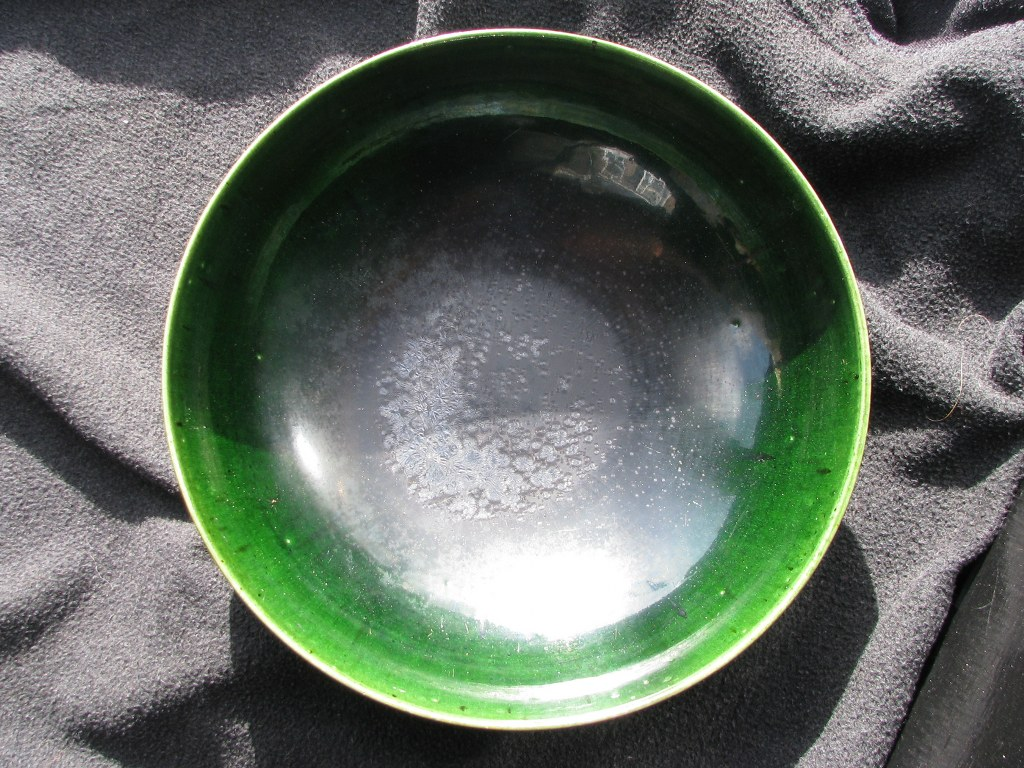 Diepe groene schaal door Gerrit den Blanken-4
