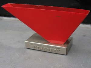 Metal letter holder by Wim Rietveld 1960-2