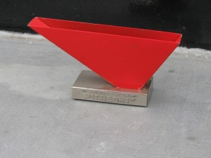 Metal letter holder by Wim Rietveld 1960-3