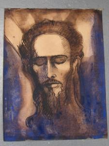 Portret Johannes de Dooper door Lodewijk Schelfhout 1919-1