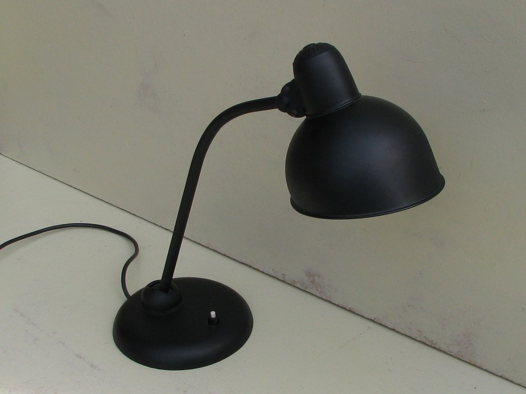 Black Kaiser-idell 6556-T desk lamp by Christian Dell