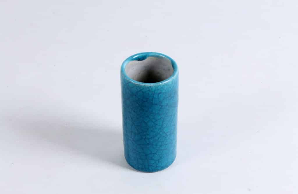 Vase with blue craquelé glaze by Groeneveldt-1