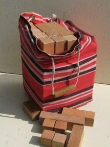 Fifties bag with wooden blocks ('blokkenzak') of ADO by Ko Verzuu-1