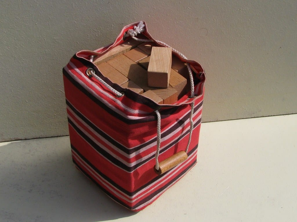 Fifties bag with wooden blocks ('blokkenzak') of ADO by Ko Verzuu
