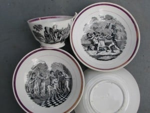 Cup and saucers by Davies & Co Tyne Main Pottery Gateshead-1