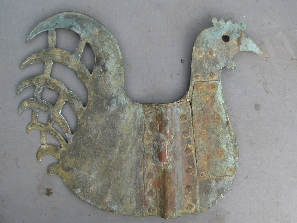 Old Dutch weather vane in the shape of a cock