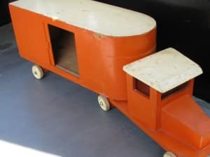 Vintage orange replica ADO truck from around 1950-1