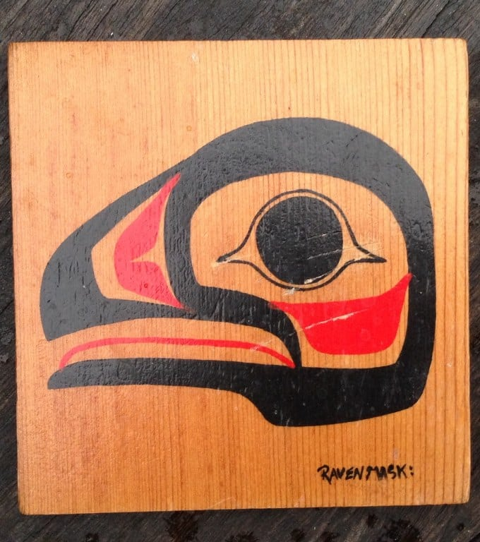 Raven Mask and Killer Whale by Clifford George