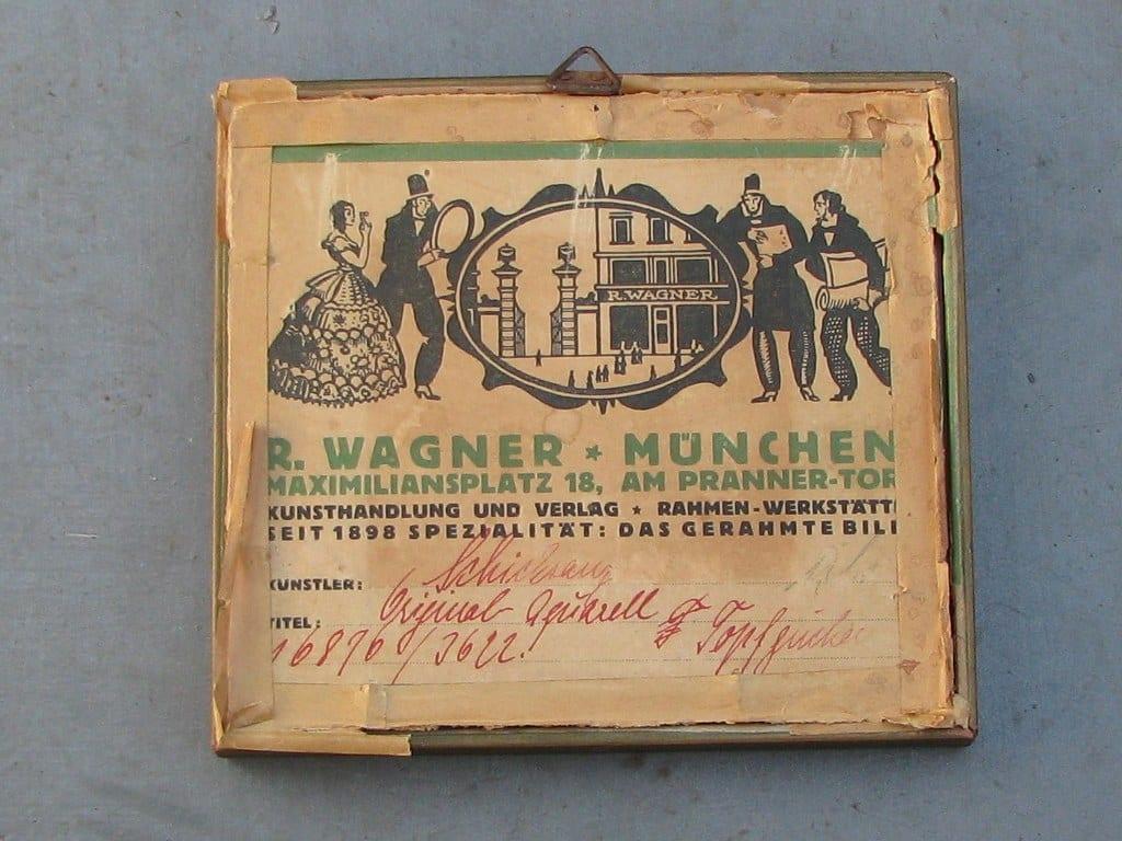 Aquarel Topfgucker (pottekijker) door Carl Schicktanz 1921-3