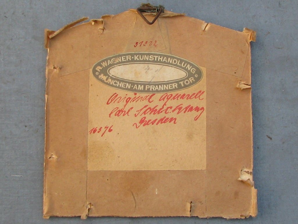 Aquarel rode vink door Carl Schicktanz 1922-3