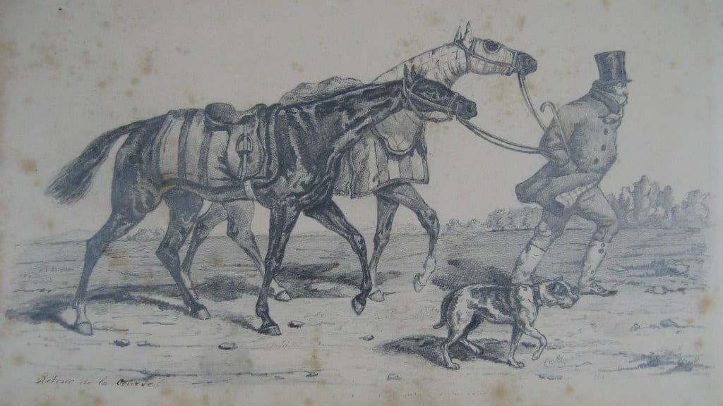 Drawing 'RETOUR DE LA COURSE' by Jan Herman Adolph Tielkemeijer
