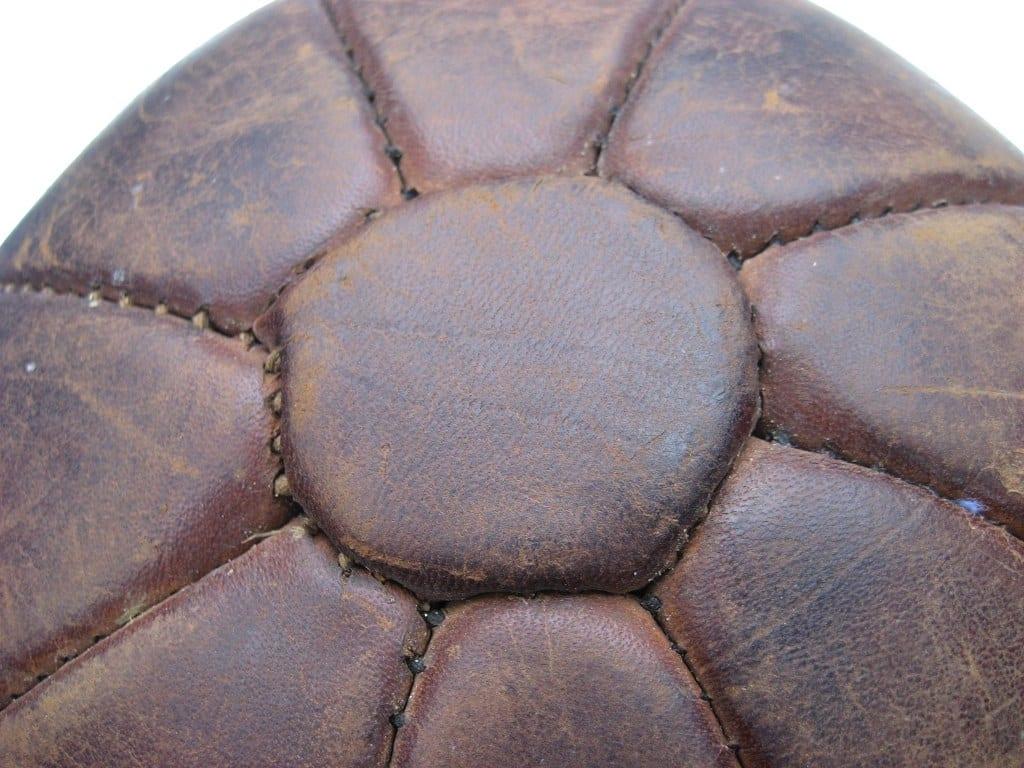 Antieke leren bal voor krachttraining-4