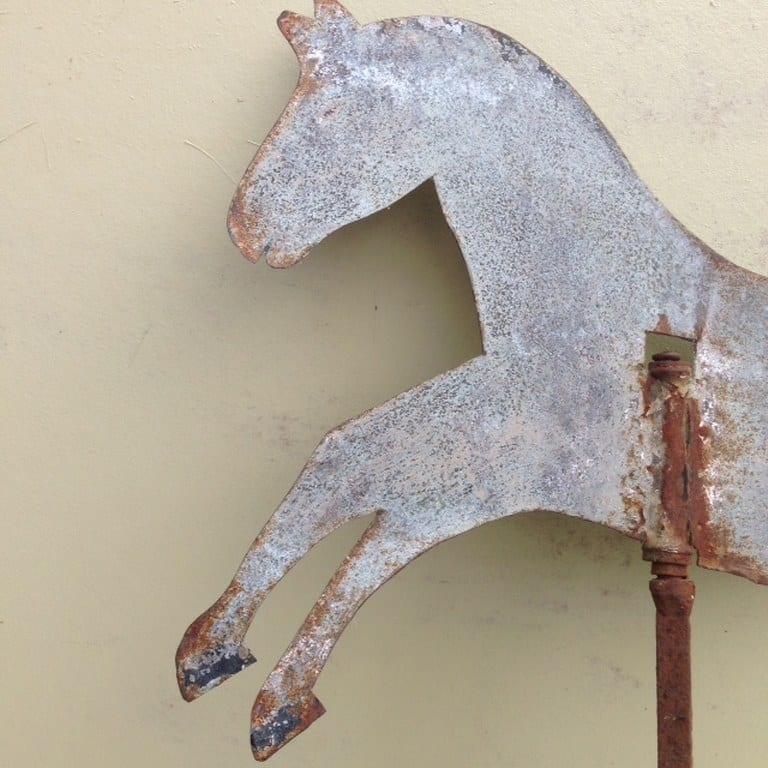 Old Dutch weather vane in the shape of a horse-1_768x768