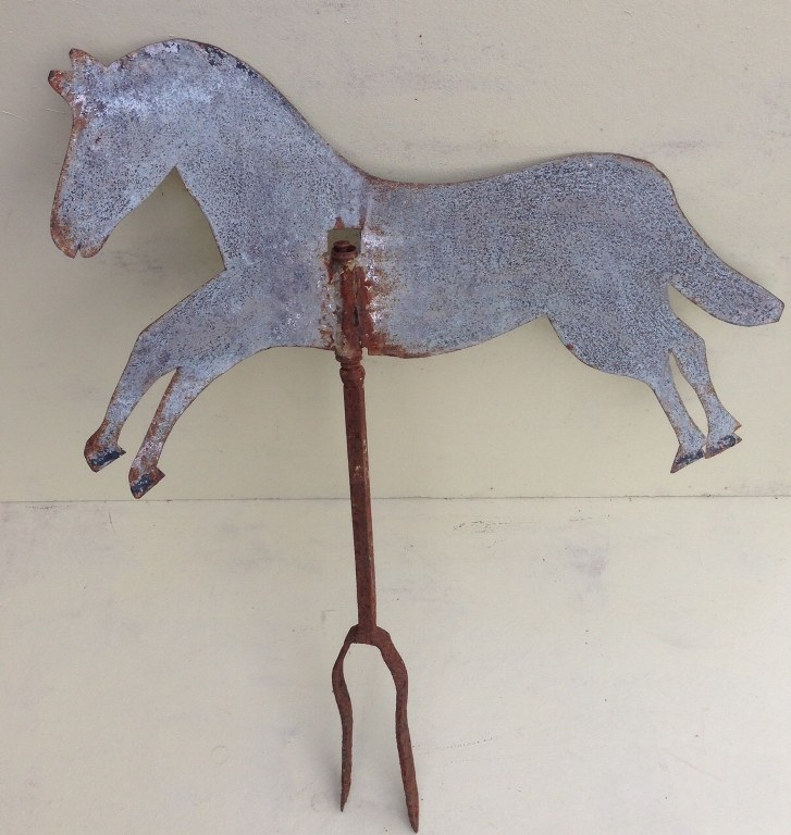 Old Dutch weather vane in the shape of a horse-5
